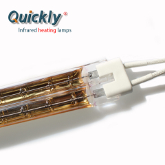Infrared heating lamps for print curing