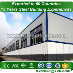 steel structure industrial building made of light guage steel ISO9001