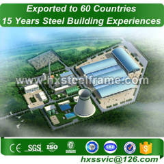 green factory building and industrial steel structures with CE deftly produced