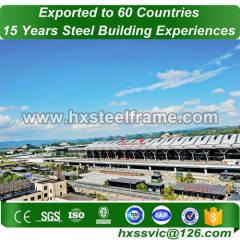 hangar de construction en métal fait de structure fabriquée avec ce à accra client