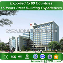 prefab buildings made of steel stuctures by Q235 Q345B accurately processed