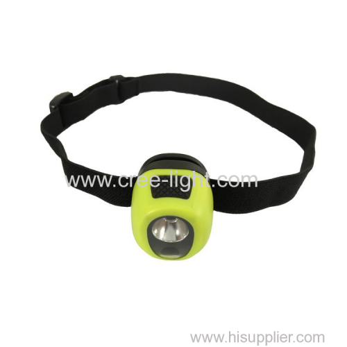 patented two led grade IPX7 waterproof children's mini headlamp