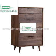 North American style black walnut solid wood side board multi-purpose Cabinets