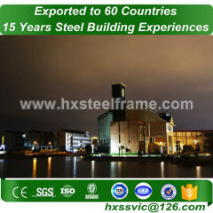 metal building construction and pre engineered steel building good price