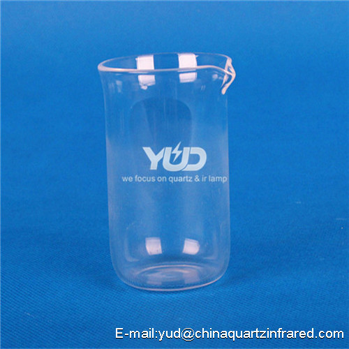 high temperature quartz glass tubes Beaker 99.9% lab equipment