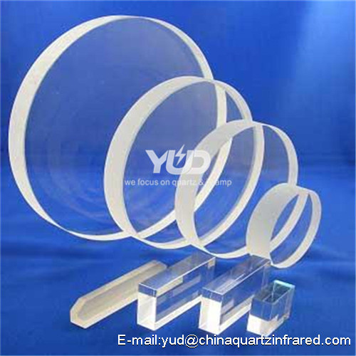 High light transmittance 92- 99.5% circular transparent uv quartz glass plate