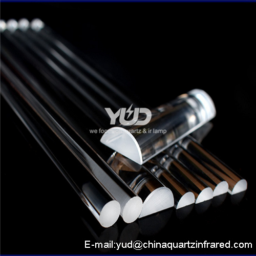 high purity light Half quartz rod customer made size