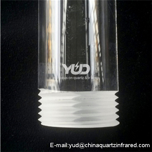 Custom threaded orifice quartz optics corrosion-resistant