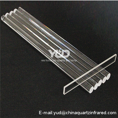 flame polished clear quartz glass tubes YUD