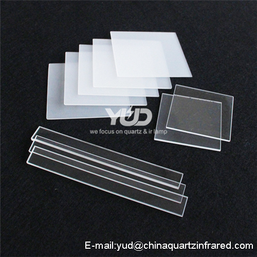 high temperature clear quartz glass pleate