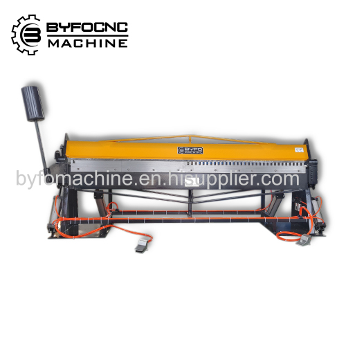 Byfo Pneumatic folding machine Small HVAC steel plate bending machine