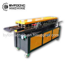 Hvac square duct flange forming machine