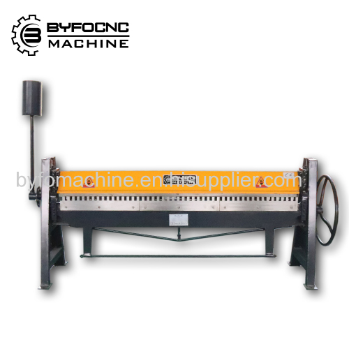 hvac duct manual folding machine