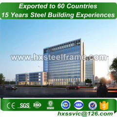 commercial modular buildings made of H steel column good price to China market