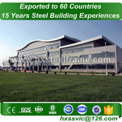 commercial prefabricated structures building by steel frame export to Chile