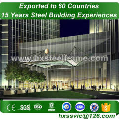 pre engineered metal building systems made of main steel frame with ISO
