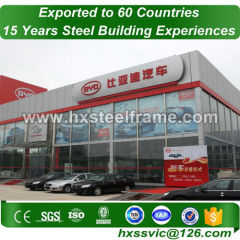 steel truss buildings and pre engineered steel building hot-galvanized