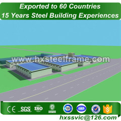 prefabricated steel structures formed metal building frame of three story