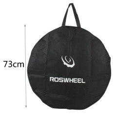 transport pouch carrier for bike wheel