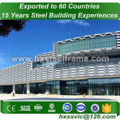 metal building packages made of stell frame to ISO code sale to Togo