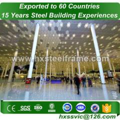 large steel buildings made of Steel Framework CE certified to Rwanda customer