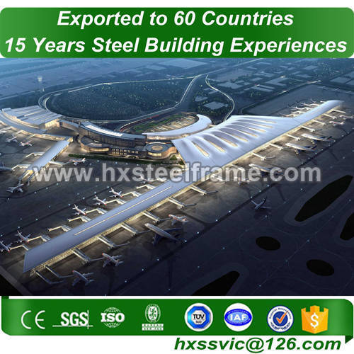 steel building frame made of built-up steel column with quick delivery