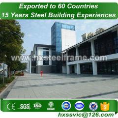 steel prefab buildings made of stell frame hot-galvanized installed in Libya