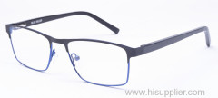 Square metal optical frames two colors front for men