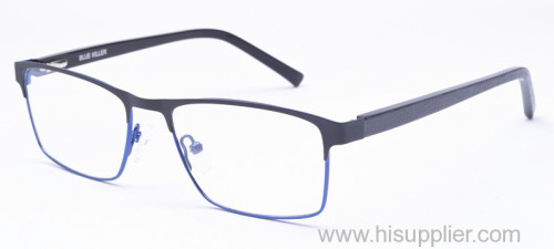 Square metal optical frames for men