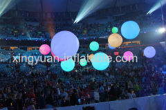Inflatable led throw balls for concert