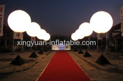 Customed logo inflatable light up balloons with tripod stand for night event decoration