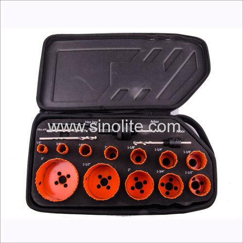 16pcs/set HSS Bi-metal hole saw kit 16-19-22-25-29-32-35-38-44-51-64-76mm