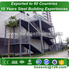 steel building framing made of pre built structures fast installation