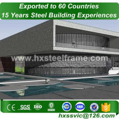 30x60 metal building made of steel tube columns hot Sell for importer in Dubai