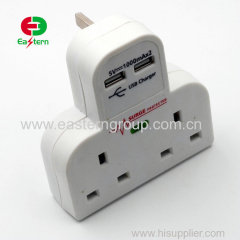 5V 10A 2 port usb charger US EU UK Type Adapter Phone Tablet PC Universal Safe Charger For Home Travel