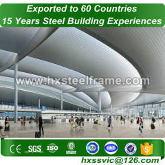 steel builings made of main steel frame SGS certified at North America area