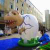 Giant inflatable dinosaur egg for advertising