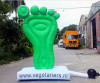 Giant inflatable foot for advertising