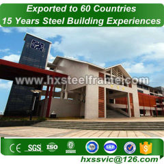 structural steel erection formed steel bulding outdoor for Togo client