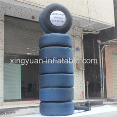 Customed logo tire inflatable model for promotion