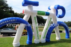 Giant inflatable bike for advertising