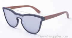 One lens wood sunglasses