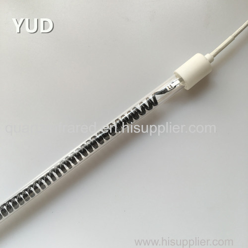 transparent carbon fiber infrared heating lamp 600W