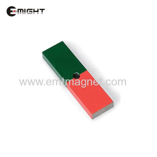 Cast Alnico Magnet Block magnets magnetic materials U magnet with screw hole motor horseshoe magnet