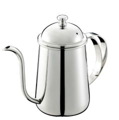 304 Stainless steel Slender hand flush coffee pot