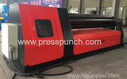 CNC Plate rolling machine with 4 rolls exported to Spain