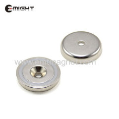Countersunk Pot Magnets Disc D25
