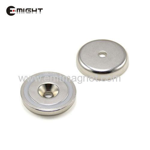 Countersunk Pot Magnets Disc D25