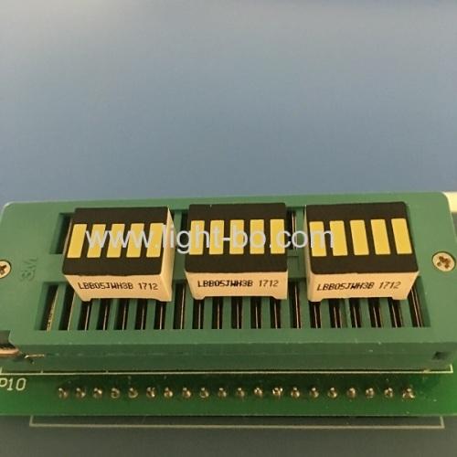 Ultra bright white 5 segment led bar for instrument panel level indicator
