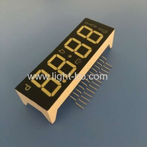 High brightness ultra white 4 digit 7 segment led display common cathode for oven timer control